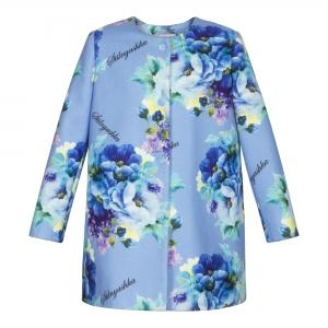 Пальто ПА-3011-68 Blue flowers