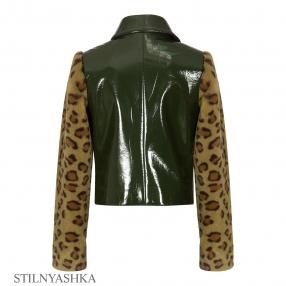 Куртка КР-1085-4 Розовый леопард