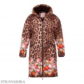 Куртка удлиненная КР-1077 Леопард